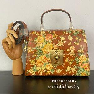 NEW! Vintage Botanical Collection Chauny Satchel